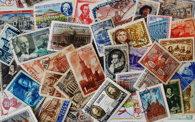 Collection of the soviet stamps