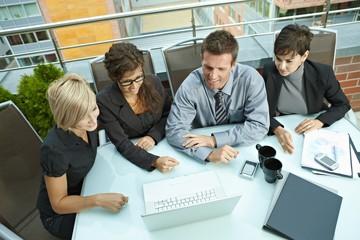 Business people meeting outdoor