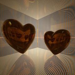 golden love hearts