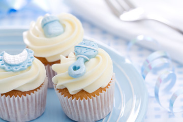 Wall Mural - Cupcakes for a baby shower