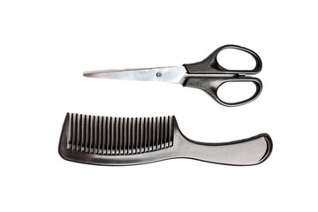 scissors and a comb