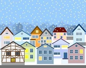 Stadt im Winter