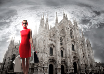 Photo sur Plexiglas Milan Capital of fashion
