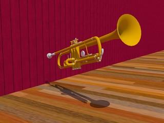 Trompeta renderizada