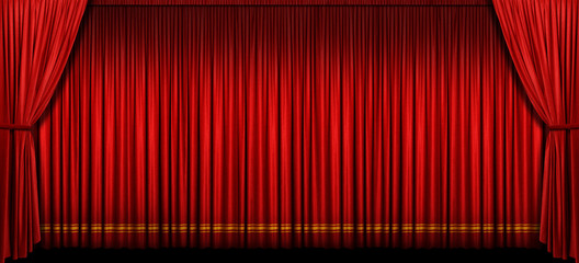 Wall Mural - Large Red Stage Curtain