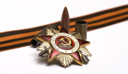 Victory symbols.