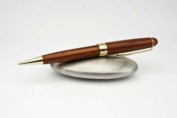 Wood and Gold Pen