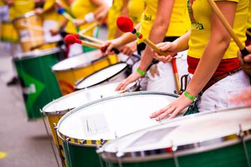Türaufkleber Brasilien samba drums