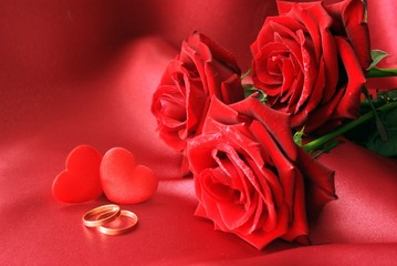 love and red rose