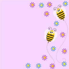 sfondo lilla con api