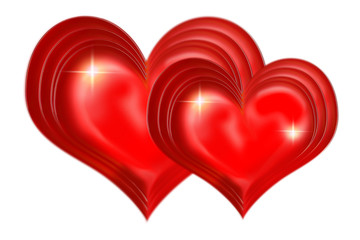 valentinstag,zwei herzen