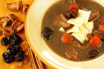 "Polish Duck Blood Soup (Black soup - ""Czernina"")"