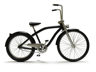 Cruiser bicycle isolated