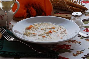 Ris e lace - Riso al latte e zucca - Primi della Lombardia