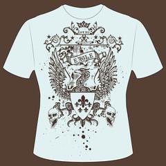 T-Shirt Druck Adler