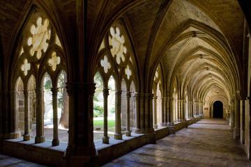 interior of Monastery of Veruela, Aragon, Spain