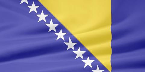 Flagge von Bosnien Herzegowina