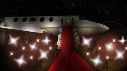 départ en jet privé