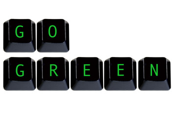 keyboard keys go green