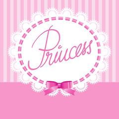 Princess-Spitzenrahmen mit Schleife