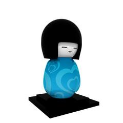Japanese kokeshi boy doll.