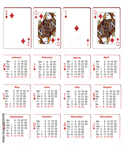 Atu Calendar.Playing Cards Calendar Stock Image And Royalty Free Vector Files On