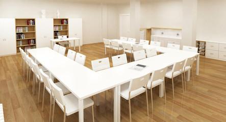school interior 3d