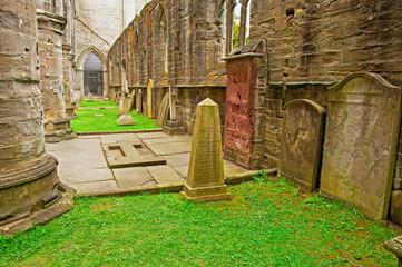 Ancient grave stones, Dunkeld, Scotland