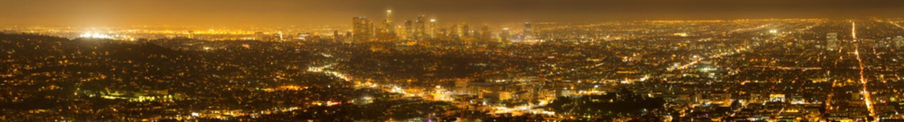 Panorama of Los Angeles Skyline