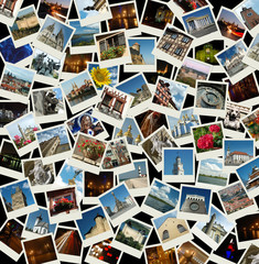 Go Europe - background with travel photos of european landmarks