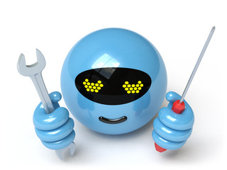 Spoed Foto op Canvas Robots robot