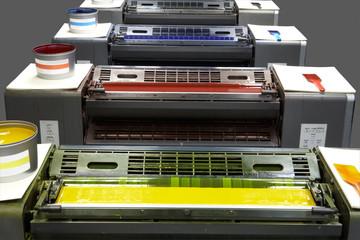 four colour printing press