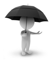 3d small people-umbrella