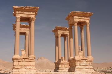 Säulen in den Ruinen von Palmyra - Syrien