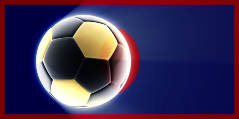 Flag of Guam soccer