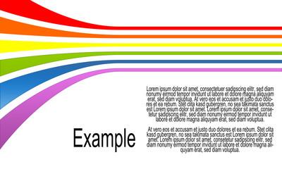 Rainbow Background Flyer White