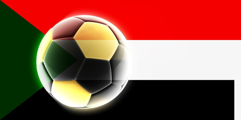 Flag of Sudan soccer
