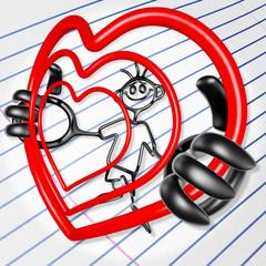 Doodle Guyz Valentine Heart