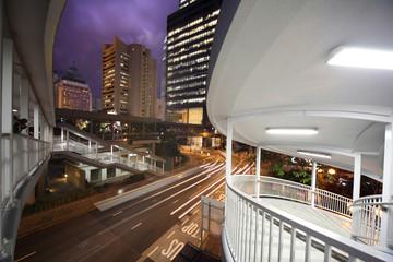 Fotobehang - Night city architecture