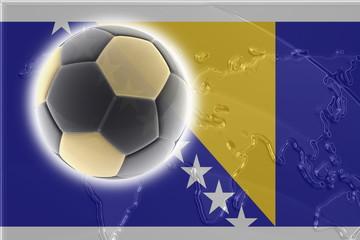 Flag of Bosnia Hertzigovina soccer