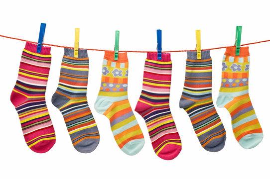 calcetines tendidos