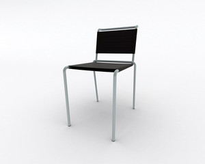 Isolated modern furniture on white background. 3d image.