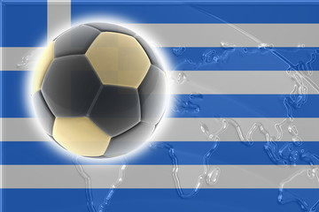 Flag of Greece soccer