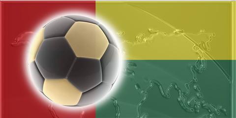 Flag of Guinea Bissau soccer