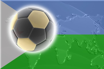 Flag of Djibouti soccer