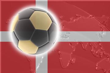 Flag of Denmark soccer