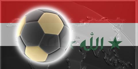 Flag of Iraq soccer