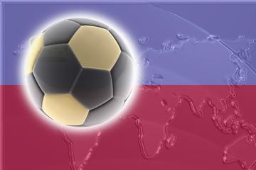 Flag of Lichenstein soccer