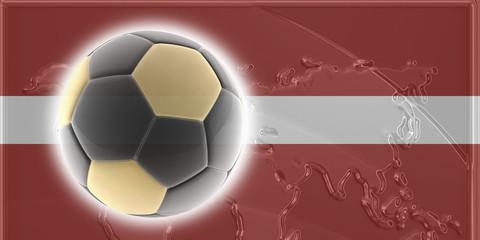 Flag of Latvia soccer