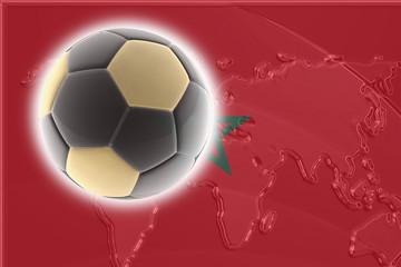 Flag of Morrocco soccer